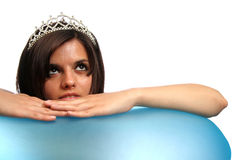 The girl with a diadem Stock Photography