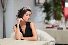 Girl with diadem Stock Photo