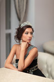 Girl with diadem Royalty Free Stock Photo