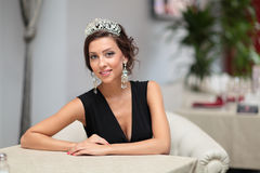 Girl with diadem Stock Photos
