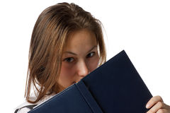 Girl with a diary Royalty Free Stock Photography