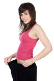Girl after the diet Royalty Free Stock Images