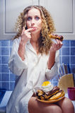Girl on diet Stock Photo