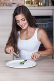 Girl on a diet Stock Photo