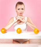 Girl on diet. Stock Images