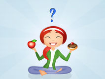Girl diet Royalty Free Stock Photo