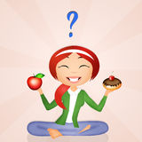 Girl diet Royalty Free Stock Images