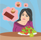 Girl on a diet Royalty Free Stock Photo