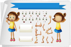 Girl with different body parts Royalty Free Stock Image