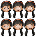 Girl with different emotions Stock Photo