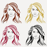 The girl with different hair Stock Photo