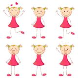 Girl in Different Mood Royalty Free Stock Image