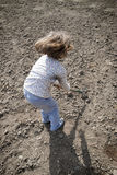Girl digging Stock Photography