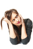 Girl in dilemma Royalty Free Stock Image