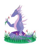 The girl a dinosaur. Royalty Free Stock Photography