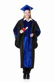 Girl with a diploma Stock Image