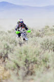 Girl Dirtbiker Racer Stock Photography