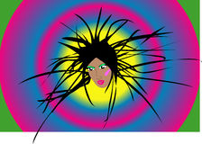 Girl disco. Portrait of the girl-disco on a club background Royalty Free Stock Photo