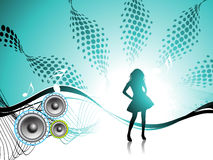 Girl. Disco party. Royalty Free Stock Photography