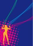 Girl Disco Party Flyer Royalty Free Stock Photo