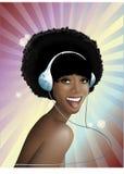 Girl in disco syle Royalty Free Stock Photos