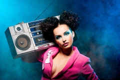 Girl at the disco Royalty Free Stock Images