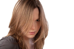 Girl with the dismissed hair Stock Images