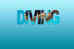 Girl dive deep royalty free stock photos