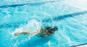 Girl diving Royalty Free Stock Images