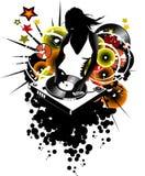 Girl DJ Stock Photo