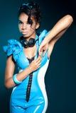 Girl DJ Royalty Free Stock Images