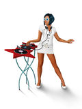 Girl DJ Royalty Free Stock Image
