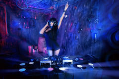 Girl dj Stock Images