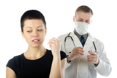 Girl and doctor Royalty Free Stock Images