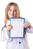 Girl in doctor costume Stock Image
