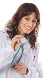 Girl doctor with stethoscope Stock Photography