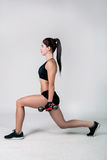 The girl does exercise fitness Stock Images