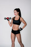 The girl does exercise fitness Royalty Free Stock Photo