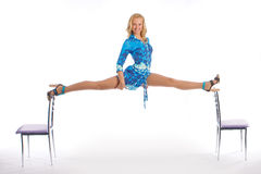 The girl does a splits Stock Photos