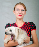 Girl and dog Royalty Free Stock Photo