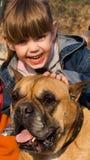 Girl and dog Stock Photo
