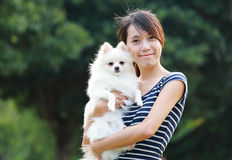Girl with dog Royalty Free Stock Photos