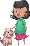 Girl and the dog Royalty Free Stock Image