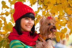 Girl with dog Royalty Free Stock Photography
