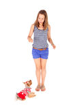 Girl and dog Stock Photos