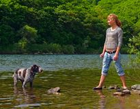 Girl and Dog 4 Stock Photos