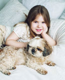 Girl with a dog Royalty Free Stock Photo