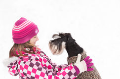 Girl with dog Royalty Free Stock Images