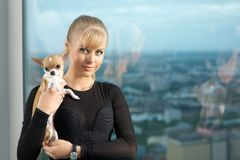 Girl with doggie Royalty Free Stock Photos