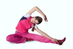 Girl doing aerobics Stock Photography